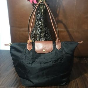 LONGCHAMP Black Le Pliage Nylon Tote